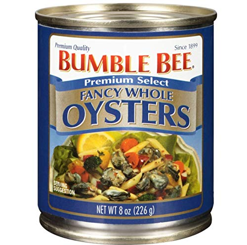 BUMBLE BEE Premium Select Whole Oysters and 8 Ounce Can...