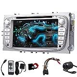 EinCar Wince 7-Zoll-Doppel-DIN-Autoradio f¨¹r Ford Focus Mondeo Support-DVD GPS-Navigation Auto-Radio Bluetooth Lenkrad-Steuerung USB