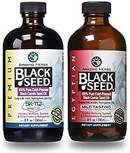 Amazing Herbs Black Seed Oil - Premium 8 Fl Oz Plus Egyptian Black Seed Oil, 8 Fl Oz - Natural Immune System Support - Non-GMO, Gluten Free