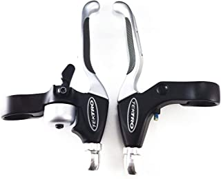 Tektro CL535RT+CL530RS MTB BMX Hybrid Brake Lever Silver with Bell/Rubber Grip
