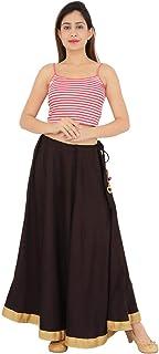 Women's Rayon Long Skirt Black