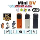 Agente007 - Micro fotocamera spia WiFi P2P Ip portatile HD 720P 5 Megapixel sportiva - Colore - Arancione