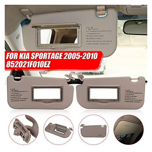 JYXZQZZ ZQZHEN Coche Interior Sunvisor Sunshield Sun Visor Shield Shade Tablero con Espejo Beige Fit para Kia Sportage 2005 2006 2007 2009 2009 2010 (Color : Right)