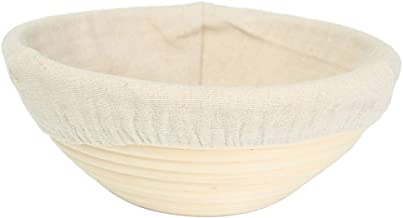 YARNOW Bread Proofing Basket Banneton Basket with Liner Cloth Handmade Dough Bread Proofing Basket for Sourdough Home Baki...