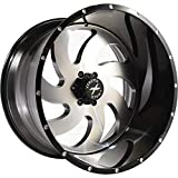 Xtreme Force XF-1 22x12 ET-44 6x139.7 (6x5.5) Black and Brushed Face