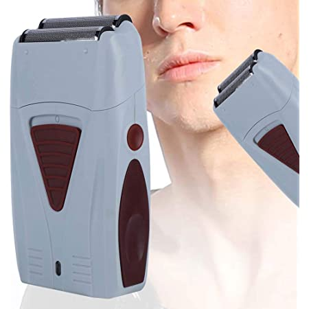Recortador de Pelo Eléctrico, Máquina de Afeitar de Doble Cabeza Recargable para Hombres, Afeitadora Alternativa, Kit de Aseo para Hombres con Recortador para Barba, Cabeza, Cuerpo Cara