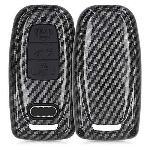 kwmobile Funda Compatible con Audi Llave de Coche Keyless de 3 Botones - Carcasa Dura para Llave de