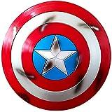 Escudo Capitan America Metal 1: 1 Adulto Apoyos de Película Niños Hierro Forjado CapitáN AméRica Shield Vengadores Capitán América Disfraz de Metal Shield Adulto/niño 57cm