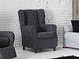 Lanovenanube - Funda sillón GEOS Orejero 1 Plaza Color Gris C06