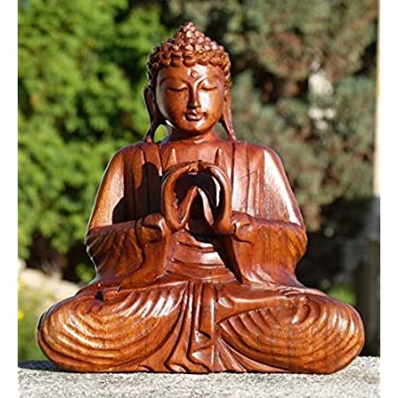 Fantastischer Holz Feng Shui BUDDHA im Baum Meditation Budda Asien BMBAUM 20