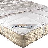 PROCAVE weiches Unterbett aus 100% Baumwolle, atmungsaktiver Matratzen-Schoner, hochwertige Matratzentopper, Matratzen-Auflage 90x200 cm