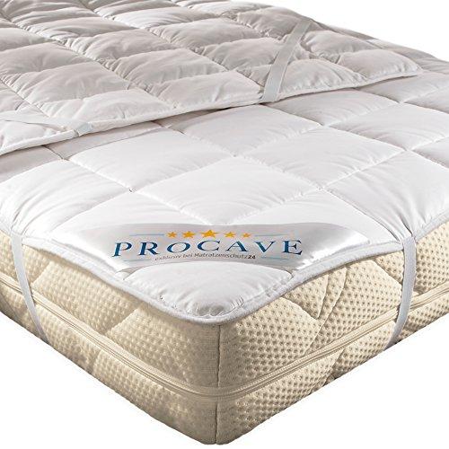 PROCAVE weiches Unterbett aus 100% Baumwolle, atmungsaktiver Matratzen-Schoner, hochwertige Matratzentopper, Matratzen-Auflage 200x200 cm