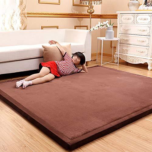 AIKES Adecuado para decoración del hogar, alfombra de dormitorio, antideslizante, alfombra gruesa y cómoda, muy suave, marrón mate, 190 x 240 cm.