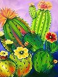 Jantabo DIY 5D Diamond Painting Completo Kits Cactus, Planta Kit de Pintura de Diamante Rhinestone Bordado Diamante Arte Taladro Kit para el Hogar Decoración de la pared 30x40cm A17