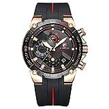Orologio da uomo cronografo sportivo impermeabile con cinturino in...