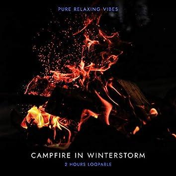 Campfire in Winterstorm