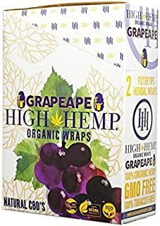 Organic Wraps - Tobacco Free, Vegan, Non-GMO! 6 Flavors to Choose from: Grape Ape, Honey Pot Swirl, Maui Mango, Original, Hydro Lemonade, and Blazin Cherry! (Grape Ape, 25 Packs)