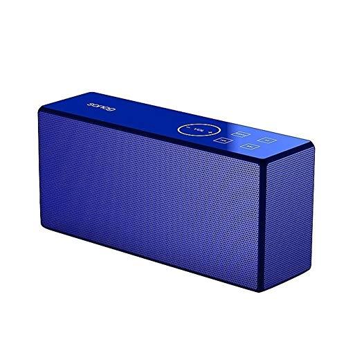 Altavoz Bluetooth DKEE Azul de Mini portátiles inalámbricos Bluetooth estéreo bajo de Montar subwoofer Bicicletas de Ejercicio al Aire Libre a Prueba de Golpes Tarjeta de TF Altavoces