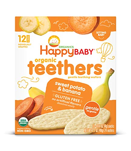 Happy Baby Gentle Teethers Organic Teething Wafers