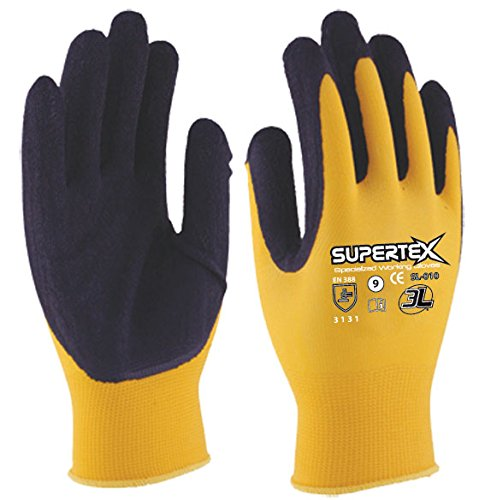 3L SL-010 T-09 - Guante Latex Nylon Supertex Sl010 T09