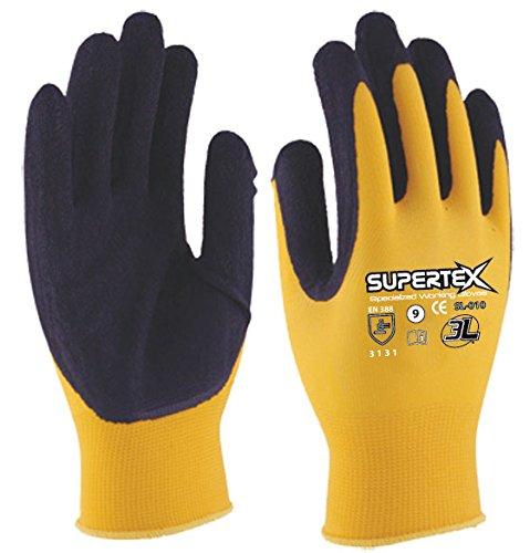 3L SL-010 T-09 - Guante Latex Nylon Supertex Sl010 T09