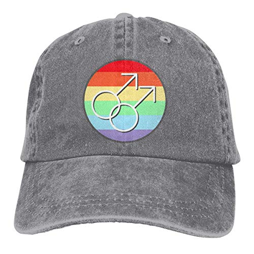 Baseballkappe Sport-Mütze Gay Pride Rainbow Symbols Men's Women's Adjustable Jeans Baseball Hat Yarn-Dyed Denim Hip-hop Cap Sports Cool Youth Golf Ball Unisex Cowboy hat Fedora Beach Hiking Skull 3D