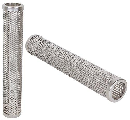 Beeketal 'Smoke Rund' Sparbrand Kaltraucherzeuger runde Räucherröhre aus Edelstahl mit 1 Kammer (L/B/H) ca. 306 x 50 x 50 mm, Raucherzeuger Röhren Generator zum kalträuchern und smoken