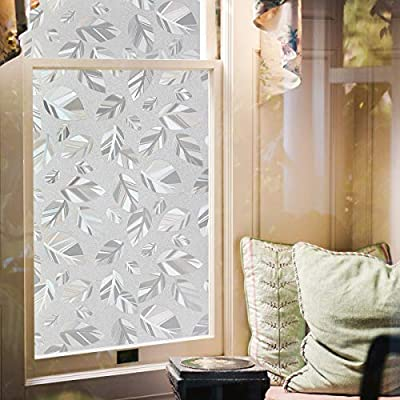 Amazon - Save 70%: Privacy Window Film Non-Adhesive Static Cling Opaque Glass Film Decorative Wind…