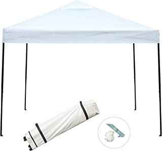 Sunnyglade 10'x10' Pop-up Canopy Tent Commercial Instant Tents Market Stall Portable Shade Instant Folding Canopy with Roller Bag (Beige)