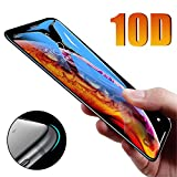 Protector de Pantalla para,Protective Glass On The For iPhone 6 6S Plus X XS MAX XR Tempered Screen Protector 10D Curved Edge Glass For iPhone 7 8 Plus for X (5.8 Inch) Black