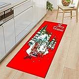 LEER Merry Christmas Welcome Doormats Indoor Home Carpets Decor Indoor 70X140Cm Year Decoration Bedroom Door Mats,B,China
