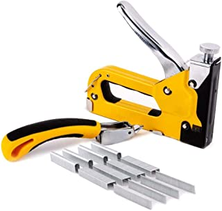 Staple Gun 3 In 1 Heavy Duty With Staple Remover And 1500 Staples - 3 Way Tacker Hand Operated Steel Stapler Brad Nail Staple Gun set