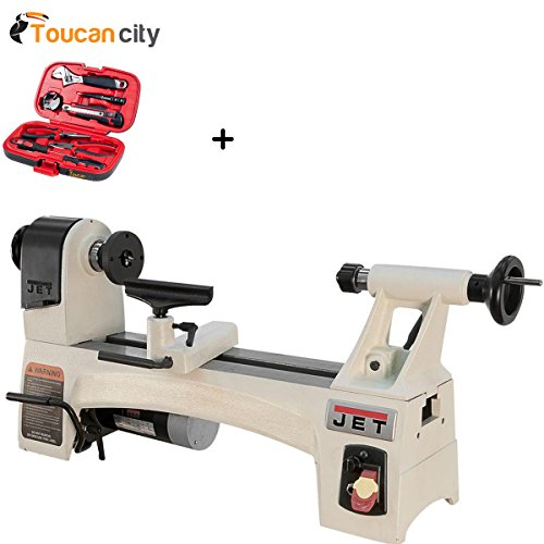 Best Review Of Toucan City Tool kit (9-piece) and JET 1/2 HP 10 in. x 15 in. Wood Lathe, Variable Sp...