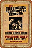Creedence Clearwater Revival In Concert Vintage Blechschild