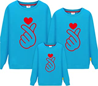 Morbuy Long Sleeve Sweatshirt, Than Heart Parent-Child Ladies Men Child Tops Crewneck Pullover Hoodie Without Hood Clothes