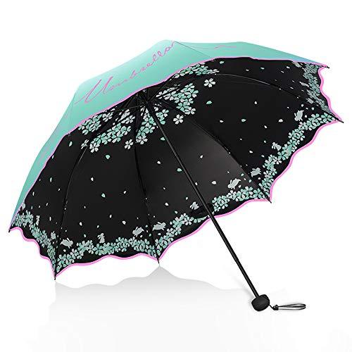 Umbrella Faltbarer Sonnenschirm, Sonnenschirm aus Edelstahl, Sonnenschutz, UV-Schutz, kompakt und tragbar, Ultraleicht, mehrere Farben