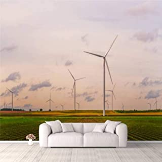 Modern 3D PVC Design Removable Wallpaper for Bedroom Living Room Wind turbines on farm land Wallpaper Stick and Peel Wall ...
