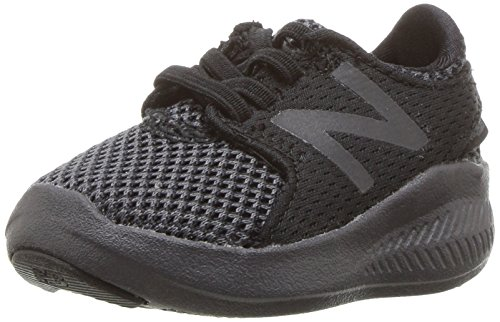 New Balance Kid's FuelCore Coast V3 Running Shoe, Black/Magnet, 7 M US Toddler