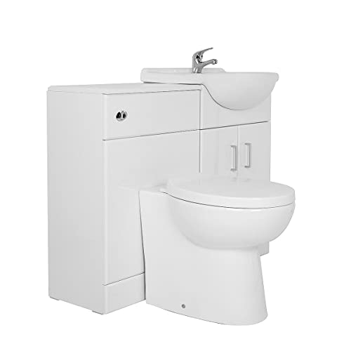 Genial Aquariss Designer Combination Bathroom Furniture Vanity Unit Suite With  Basin Sink And Toilet + Soft Close