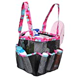 Shower Caddy Tote Bag, Toiletry Bag for Men and Women, Hanging Mesh Shower Bag, Quick Dry Bath Organizer for College Dorms, Gym, Camp (Blue)