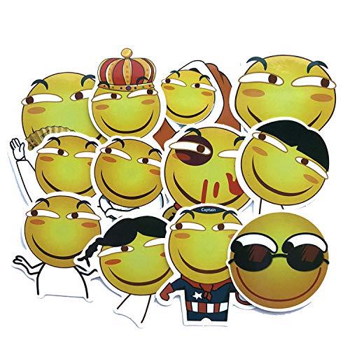 Later Emoji Bag Luggage Sticker Spoof Net Red Emoji Bag Computer Mobile Phone Cute Sticker 24pcs