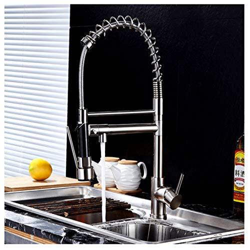 Hoge Arc Taps keukenarmaturen, eengreeps pull out pull-down-sprayer-lente staaf badkuip-keuken badmengkraan keukenkraan met 2-mode-sproeier zwart