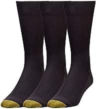Gold Toe Men's Metropolitan Dress Socks, 3-Pairs, Black, Large