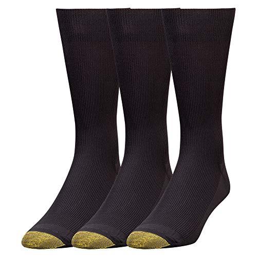 Gold Toe Herren Metropolitan Dress Socken, 3 Paar - Schwarz -