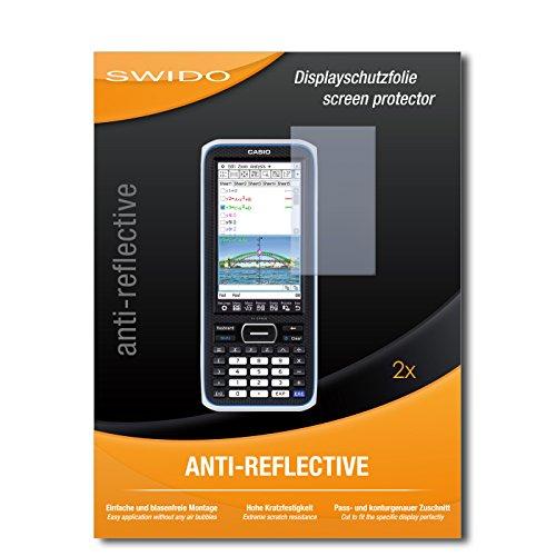 SWIDO Schutzfolie für Casio FX-CP400 ClassPad II [2 Stück] Anti-Reflex MATT Entspiegelnd, Hoher Härtegrad, Schutz vor Kratzer/Displayschutz, Displayschutzfolie, Panzerglas-Folie