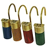 12 Gauge Shotgun Shell Shower Curtain Hooks -Rustic Bathroom Decor