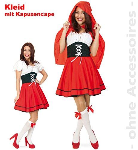 Party-Chic 13493 Dameskostuum Roodkapje Dirndl-jurk met capuchon maat 40.