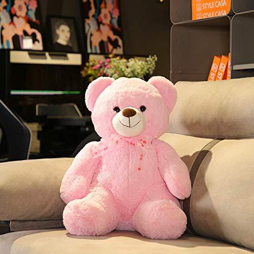 Plüsch Teddybär Teddy Bear XXL Deko Kissen Kinder Baby Zimmer Stuffed Animal Eisbär Soft Toy Plüschbär Mädchen Junge Geschenk Rosa 9.8