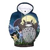 Wojhgegb Totoro Sudaderas con Capucha Sudadera Linda de la Historieta Impresa suéter con Capucha Informal múltiples tamaños for Adultos y niños Totoro Sudaderas (Color : A03, Size : 140)