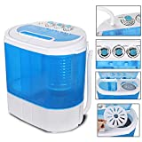 SUPER DEAL Portable Washing Machine Twin Tub 10lbs Capacity with Spin Cycle Dryer, Lightweight for Apartments, Dorm Rooms (10lbs)